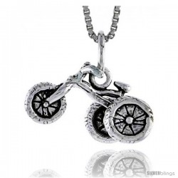 Sterling Silver Tricycle Pendant, 3/8 in tall