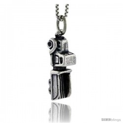 Sterling Silver Truck Pendant, 3/4 in tall