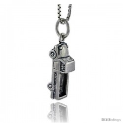 Sterling Silver Truck Pendant, 3/4 in tall -Style Pa1687