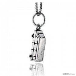 Sterling Silver Van Pendant, 5/8 in tall