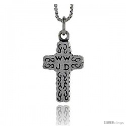 Sterling Silver Cross Pendant, 3/4 in tall -Style Pa1702