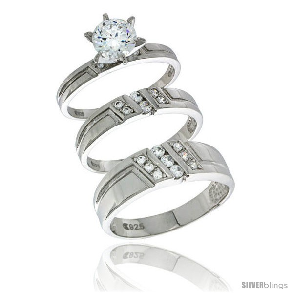 https://www.silverblings.com/70203-thickbox_default/sterling-silver-cubic-zirconia-trio-engagement-wedding-ring-set-for-him-her-mens-band-1-4-in-wide-l-5-10-m-8-14.jpg