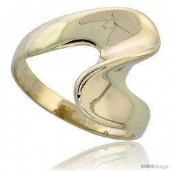 "14k Gold Swirl Ring, 5/8"" (16mm) wide"