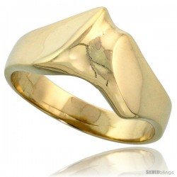 "14k Gold Freeform Wave Ring, 3/8"" (10mm) wide"