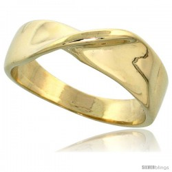 "14k Gold Twisted Knot Ring, 1/4"" (6mm) wide"