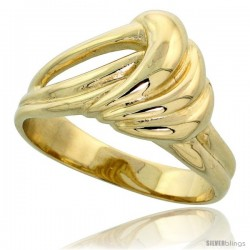"14k Gold Contemporary Wave Ring, 7/16"" (11mm) wide"