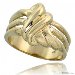 "14k Gold Contemporary Knot Ring, 1/2"" (13mm) wide"