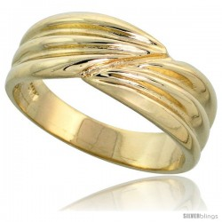 "14k Gold Contemporary Groove Band, 9/32"" (7.5mm) wide"