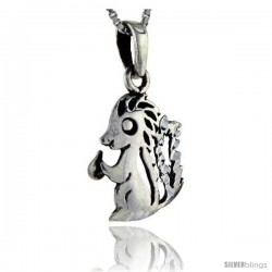 Sterling Silver Skunk Pendant, 1 in tall