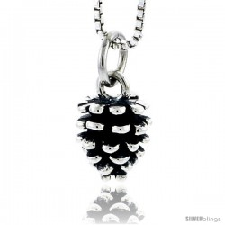 Sterling Silver Pine Cone Pendant, 3/8 in tall
