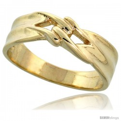 "14k Gold Contemporary Knot Ring, 1/4"" (6mm) wide"