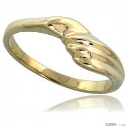 """14k Gold Freeform Ring, 1/4"""" (6mm) wide"""