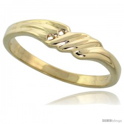 "14k Gold Double Hole Freeform Ring, 5/32"" (4mm) wide"