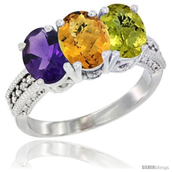https://www.silverblings.com/707-thickbox_default/14k-white-gold-natural-amethyst-whisky-quartz-lemon-quartz-ring-3-stone-7x5-mm-oval-diamond-accent.jpg