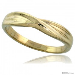 "14k Gold Crisscross Ring, 5/32"" (4mm) wide"