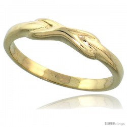 "14k Gold Crisscross Ribbon Ring, 1/8"" (3mm) wide"