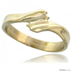 "14k Gold Contemporary Ribbon Ring, 1/4"" (6.5mm) wide"