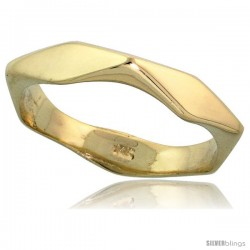 "14k Gold Diamond-shaped Link Band, 5/32"" (4mm) wide"