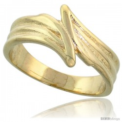 "14k Gold Freeform Grooved Band, 3/8"" (10mm) wide"