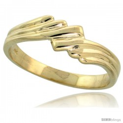 "14k Gold Freeform Grooved Band, 3/16"" (5mm) wide"
