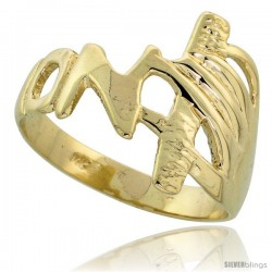 "14k Gold Hand Ring, 1/2"" (13mm) wide"