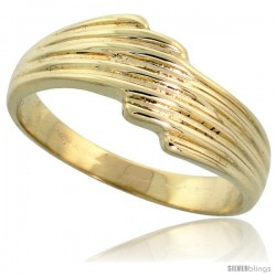 "14k Gold Freeform Grooved Ring, 1/4"" (7mm) wide"