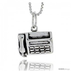 Sterling Silver Fax Machine Pendant, 3/8 in tall