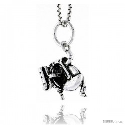 Sterling Silver Power Saw Pendant, 1/2 in tall