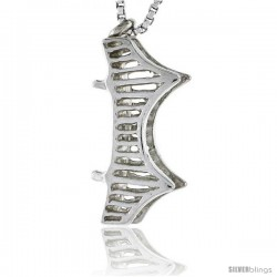 Sterling Silver London Bridge Pendant, 3/4 in tall