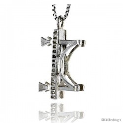 Sterling Silver Golden Gate Bridge Pendant, 3/4 in tall