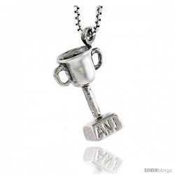 Sterling Silver Trophy Pendant, 5/8 in tall