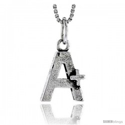 Sterling Silver A+ Pendant, 1/2 in tall