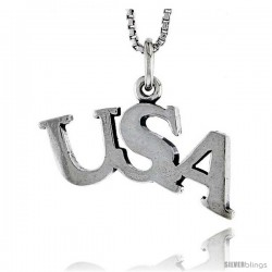 Sterling Silver USA Talking Pendant, 1/2 in tall