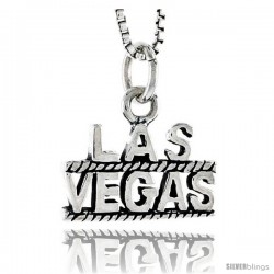 Sterling Silver Las Vegas Talking Pendant, 3/8 in tall