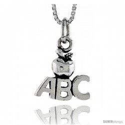 Sterling Silver ABC Pendant, 1/2 in tall