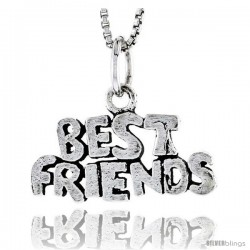 Sterling Silver Best Friends Talking Pendant, 1/2 in tall