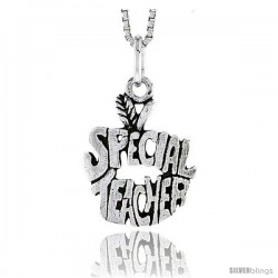 Sterling Silver Special Teacher Talking Pendant, 3/4 in tall