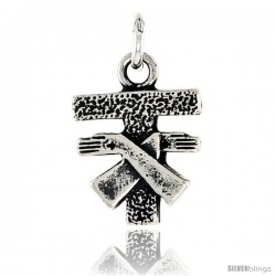 Sterling Silver Tau Cross / St. Anthony's Cross Pendant, 1/2 in tall
