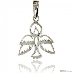 Sterling Silver Dove Pendant, 3/4 in tall