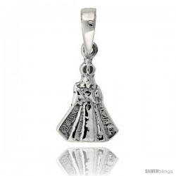 Sterling Silver Infant Jesus of Prague Pendant, 3/4 in tall