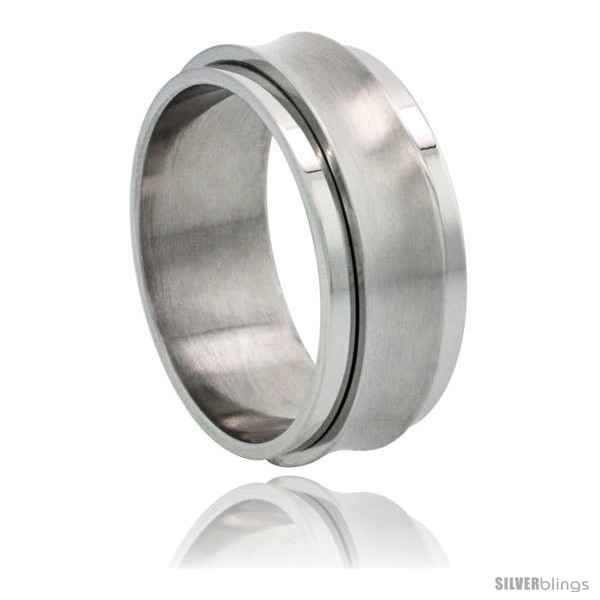 https://www.silverblings.com/7192-thickbox_default/surgical-steel-concaved-spinner-ring-9mm-wedding-band-matte-center.jpg