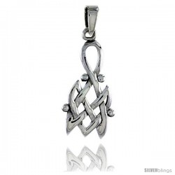 Sterling Silver Celtic Knot Pendant, 1 in
