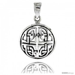Sterling Silver Celtic Knot Pendant, 1 in -Style Pa2012