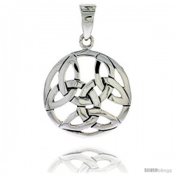 Sterling Silver Celtic Knot Pendant, 1 in -Style Pa2013