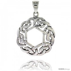 Sterling Silver Celtic Knot Pendant, 1 1/4 in -Style Pa2014