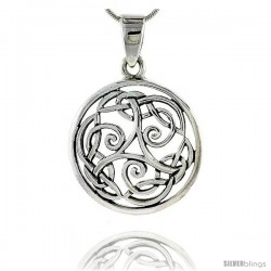 Sterling Silver Celtic Knot Pendant, 1 1/16 in