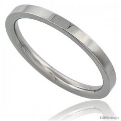 Surgical Steel 2mm Wedding Band Thumb / Toe Ring Comfort-Fit High Polish
