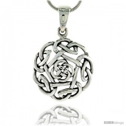Sterling Silver Celtic Knot Pendant, 3/4 in
