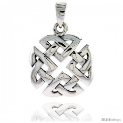 Sterling Silver Celtic Knot Pendant, 1 in -Style Pa2019