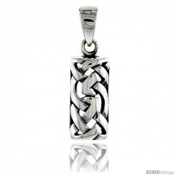 Sterling Silver Celtic Knot Pendant, 7/8 in